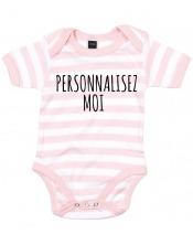 Body bébé rayé à personnaliser