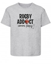 T-Shirt Enfant - Rugby Addict Papy