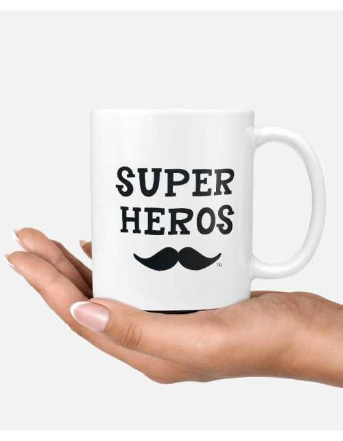 Mug - Super Héros Moustache