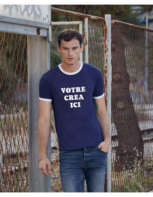 T-shirt contrasté à personnaliser