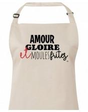 Tablier - Amour Gloire et Moules Frites