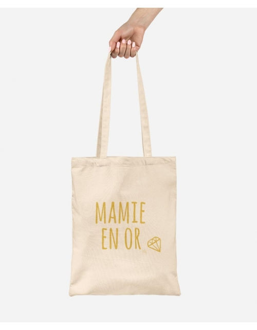 Tote Bag Mamie en Or