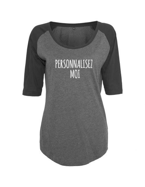 T-shirt à personnaliser Base Ball Femme, manches 3/4