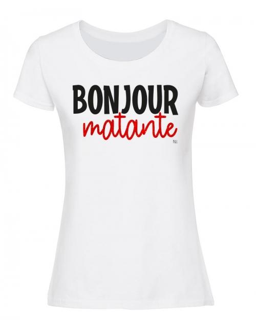 T-shirt Bonjour Matante paillettes