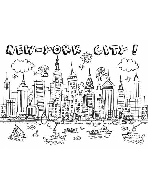 Coloriage - New-York City