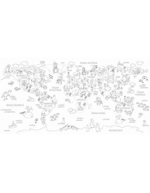 Coloriage Map Animaux World XL