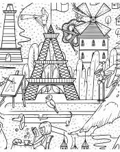 Poster à colorier France