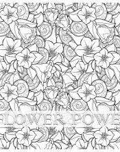 Poster à colorier Flower Power