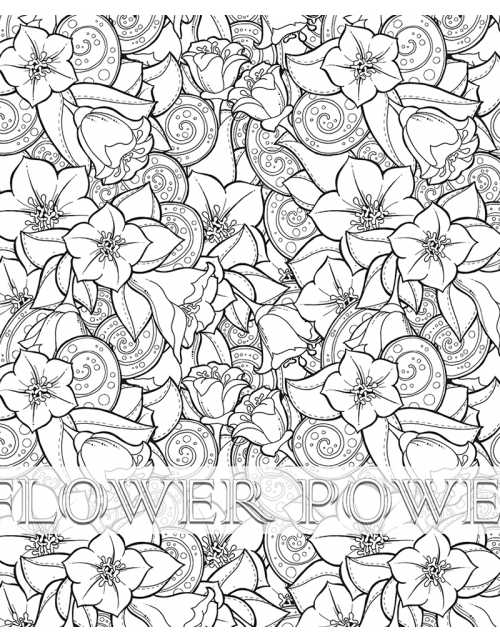 Coloriage Géant - Flower Power