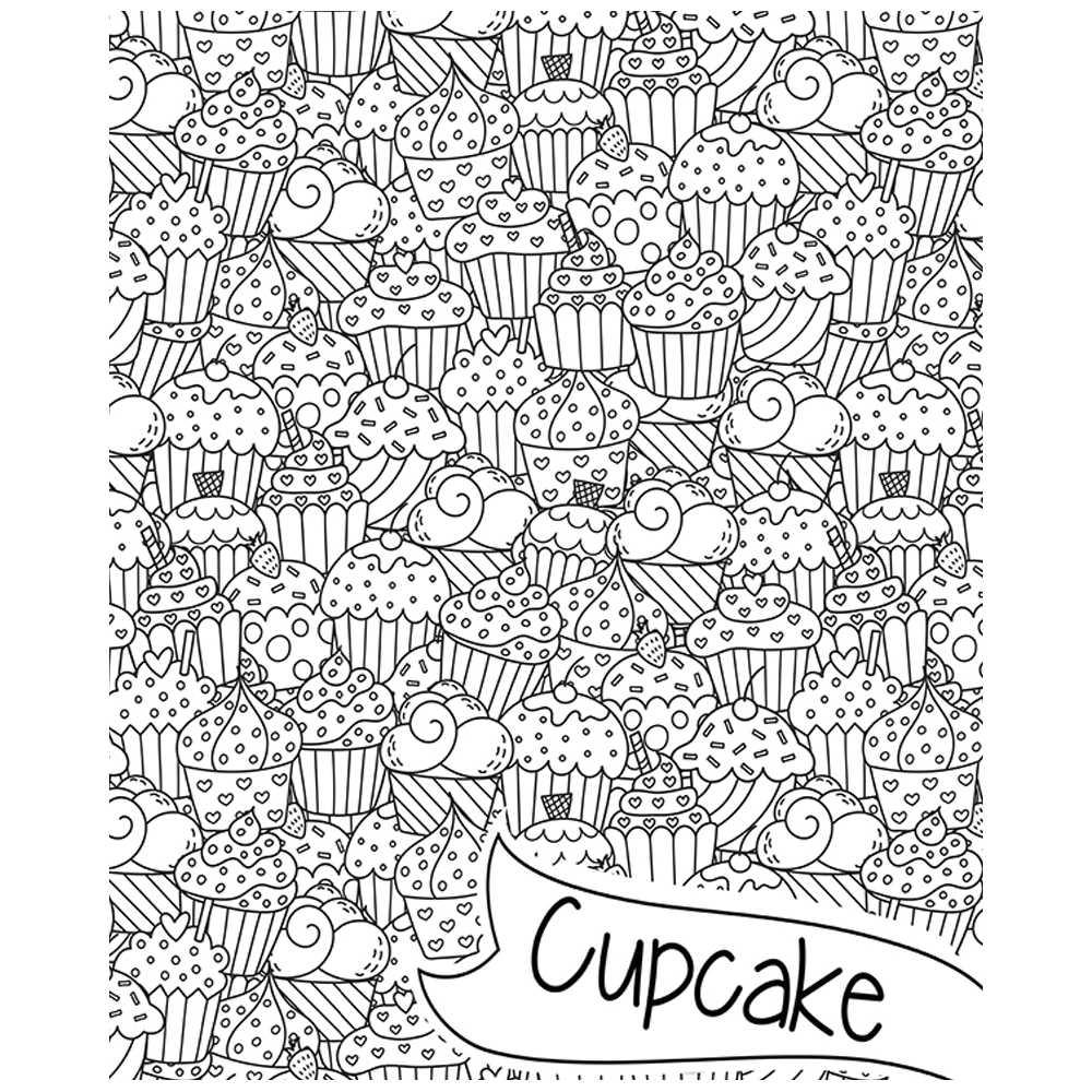 poster g ant colorier pour adultes et enfants cupcakes. Black Bedroom Furniture Sets. Home Design Ideas