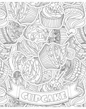 Poster à colorier Giant Cupcake