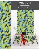 Papier Peint Geometric Colors