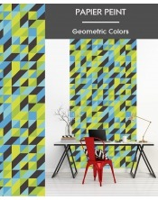 Papier Peint Geometric Colors