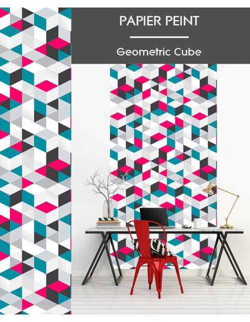 Papier Peint Geometric Cube
