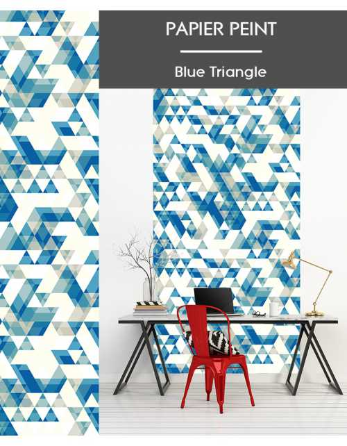 Papier Peint Blue Triangle