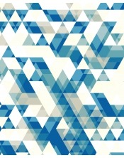 Papier Peint Blue Triangle