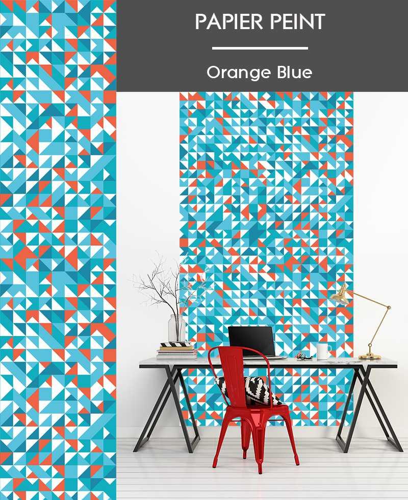 Papier Peint Orange Blue