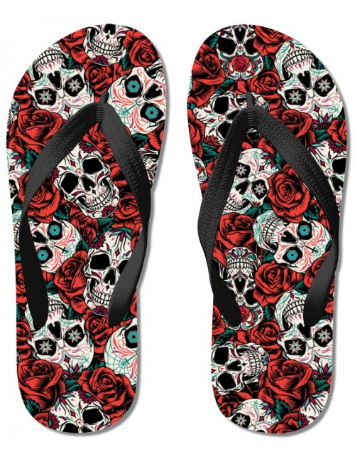 Tongs Skull & Roses