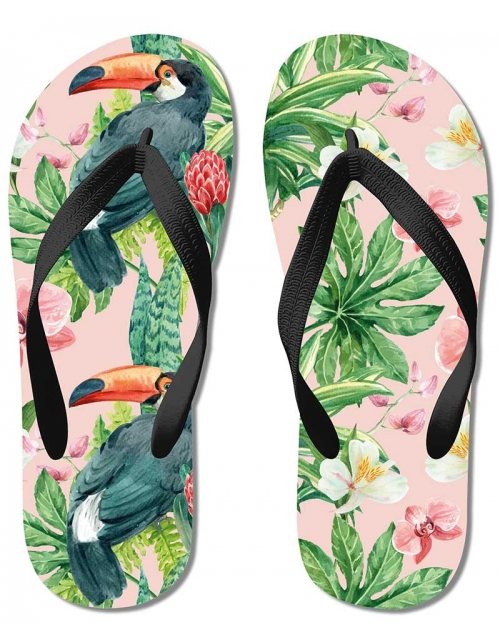 Tongs Tropical Aquarelle