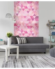 Papier Peint Geometric Pink