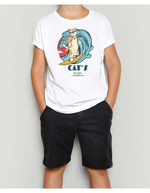 T-Shirt Cat's the Wave