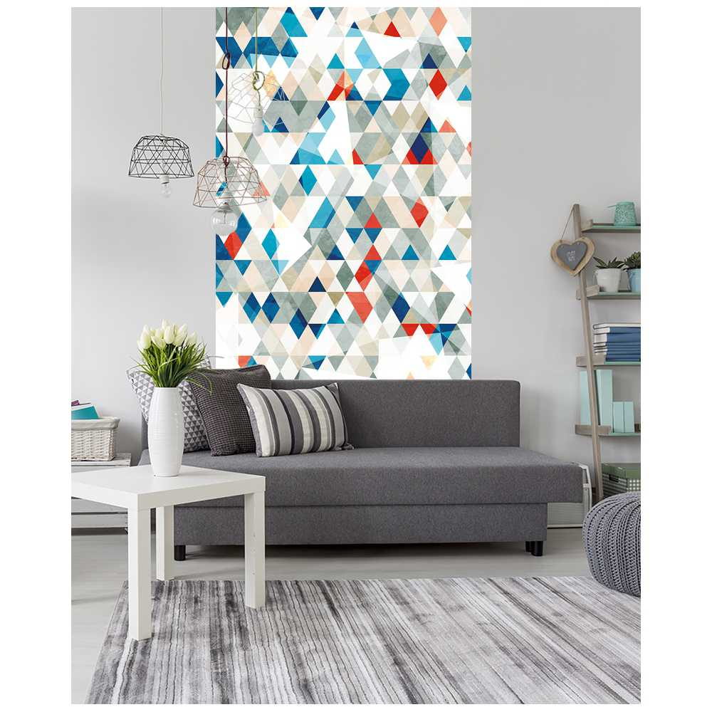 l de papier peint intiss motifs g ometriques. Black Bedroom Furniture Sets. Home Design Ideas