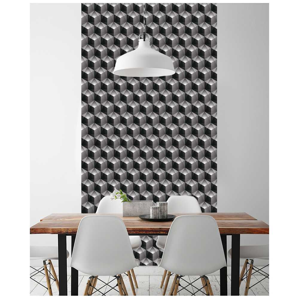 L de papier peint intiss effet 3d motifs g ometriques - Zara home papier peint ...