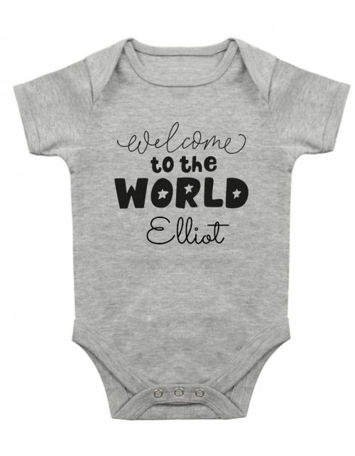 Body Bébé à personnaliser Welcome