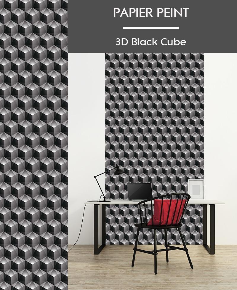 Papier Peint 3d Cube