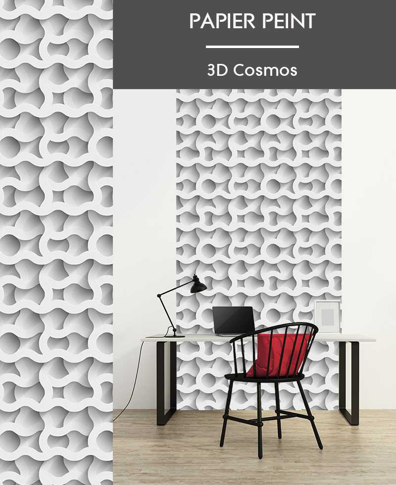 L de papier peint intiss effet 3d motifs g ometriques for Papier peint relief 3d