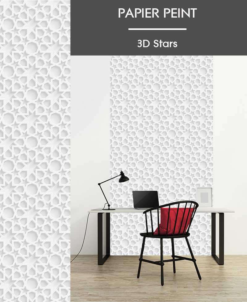 l de papier peint intiss effet 3d motifs g ometriques. Black Bedroom Furniture Sets. Home Design Ideas