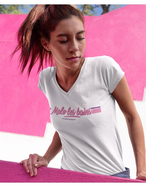T-shirt Femme Malo Les Bains Col V