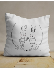 Coussin Lapin Amoureux
