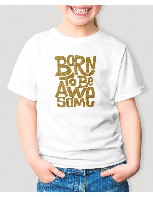 T-Shirt Paillette Born to be Awesome