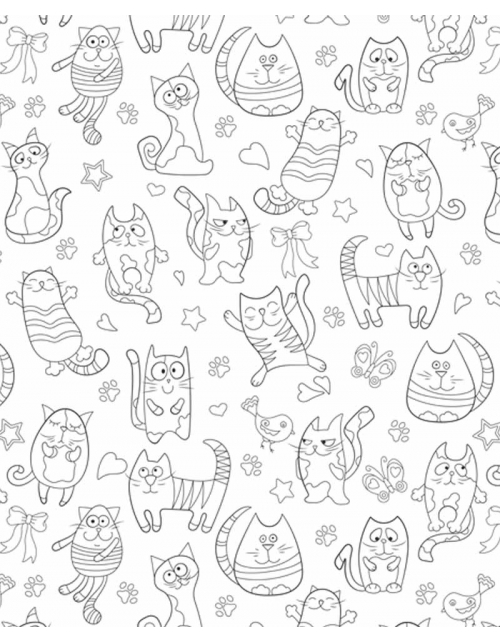 Coloriage Géant - Cat Mood