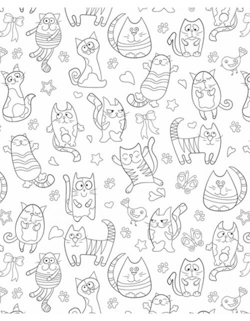 Coloriage Géant - Cat Mood