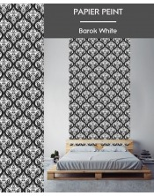 Papier Peint Barok White