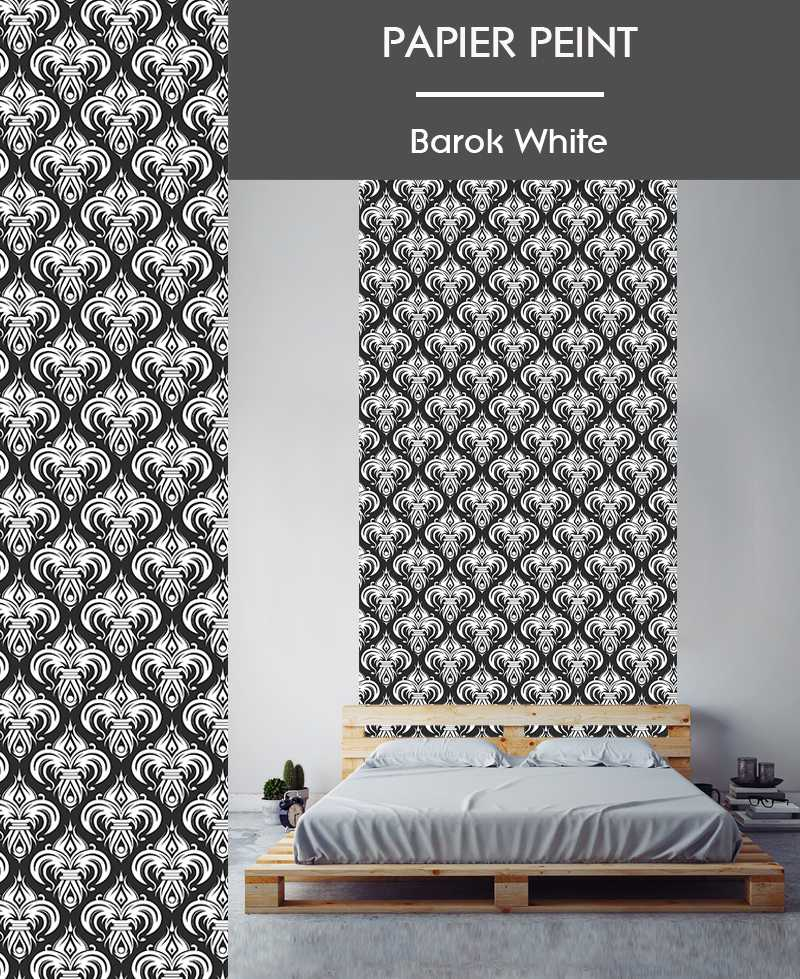 l de papier peint intiss motifs baroque. Black Bedroom Furniture Sets. Home Design Ideas