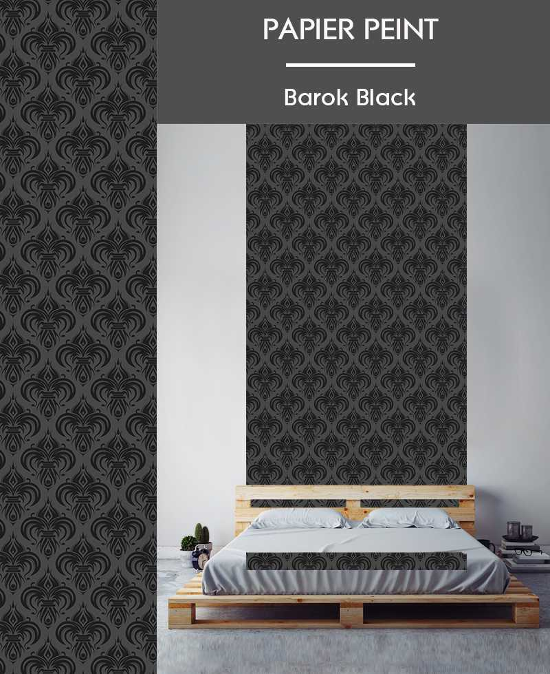l de papier peint intiss motifs baroques. Black Bedroom Furniture Sets. Home Design Ideas