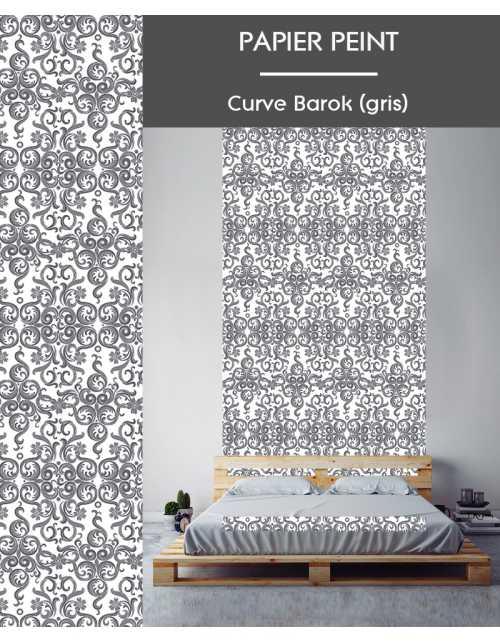 Papier Peint Curve Barok Gris