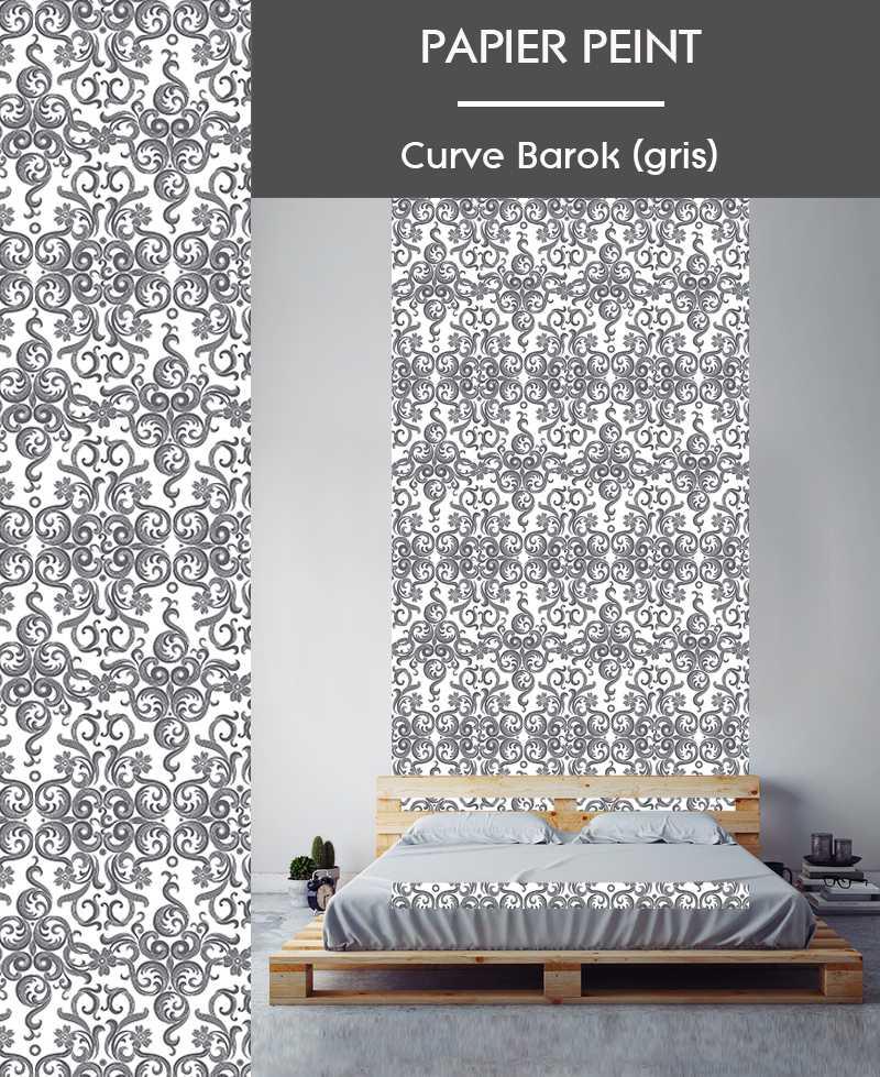 L de papier peint intiss motifs baroque - Le de papier peint ...
