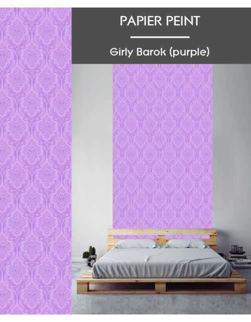 Papier Peint Girly Barok Purple
