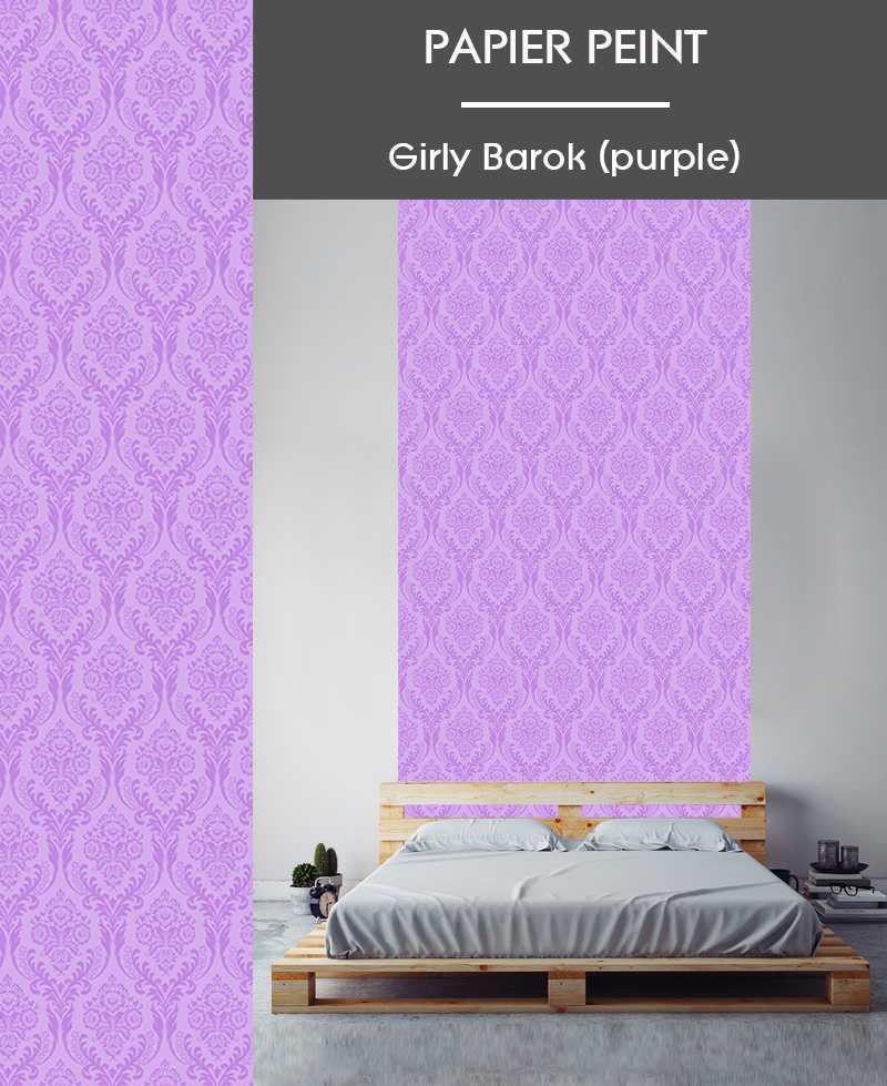 Papier Peint Girly Barok Purple