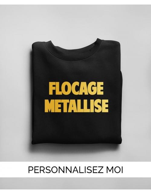 Sweat Flocage Métallisé H/F