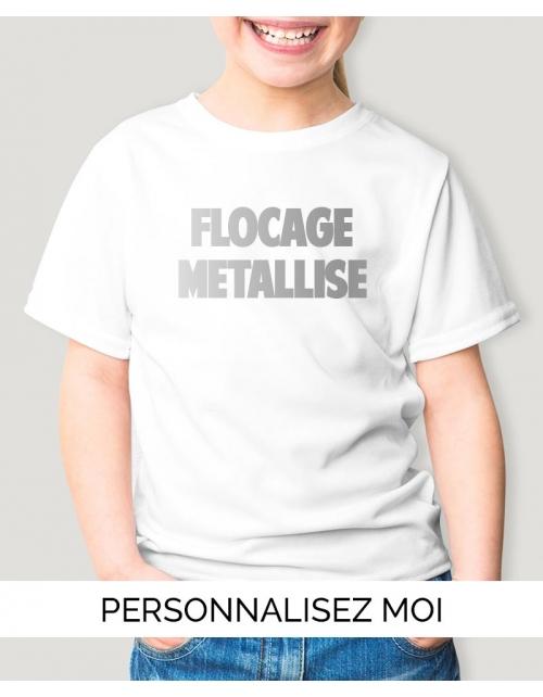 T-shirt enfant flocage métallisé
