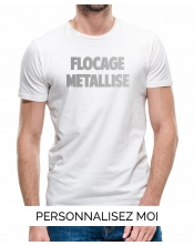 T-shirt flocage métallisé Homme