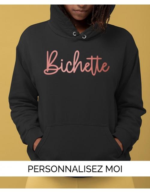 Sweat à capuche personnalisable Bichette
