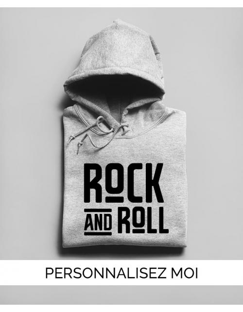Hoodie Rock N Roll Unisexe personnalisable