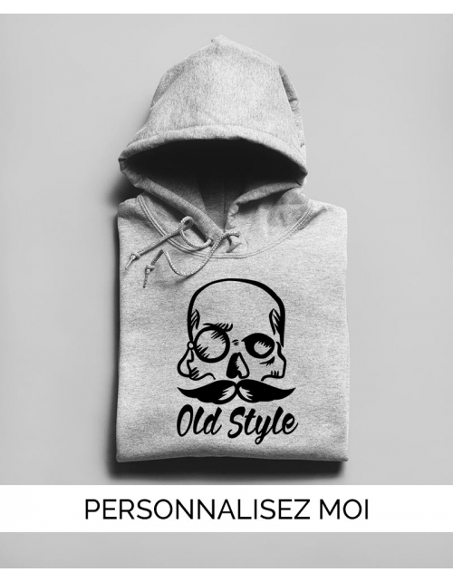 Sweat à capuche Old Style Skull