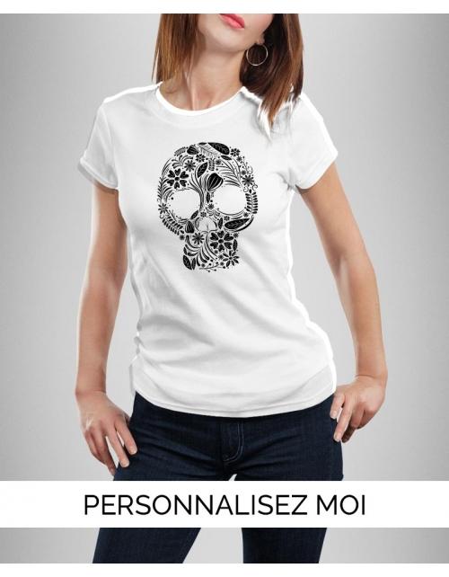 T-shirt Original Floral Skull